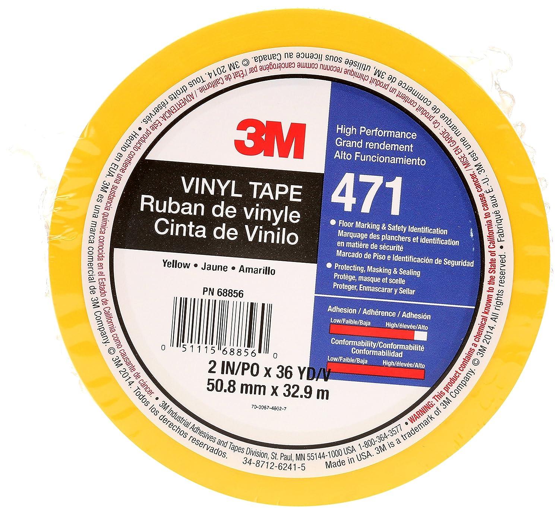 blanc 50,8 mm x 32,9 m Ruban adh/ésif vinyle 3M 471 haute performance