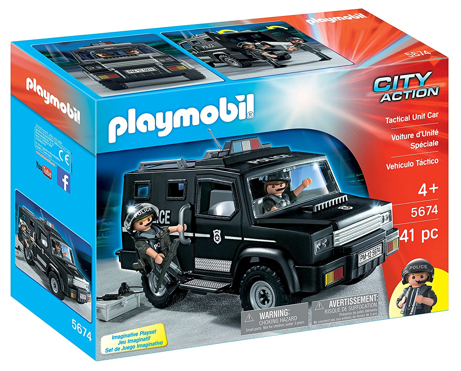 PLAYMOBIL® Tactical Unit Car Playset Playmobil - Cranbury 5674
