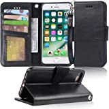 Arae Case for iPhone 7 / iPhone 8 / iPhone SE 2020, Premium PU Leather Wallet Case with Kickstand and Flip Cover for iPhone 7