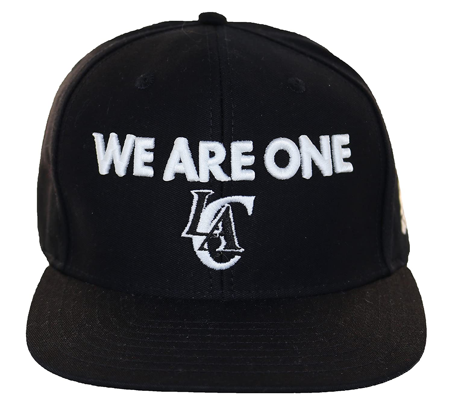 75c3444e869d3 ... top quality amazon adidas mens we are one los angeles clippers snapback  cap one size black