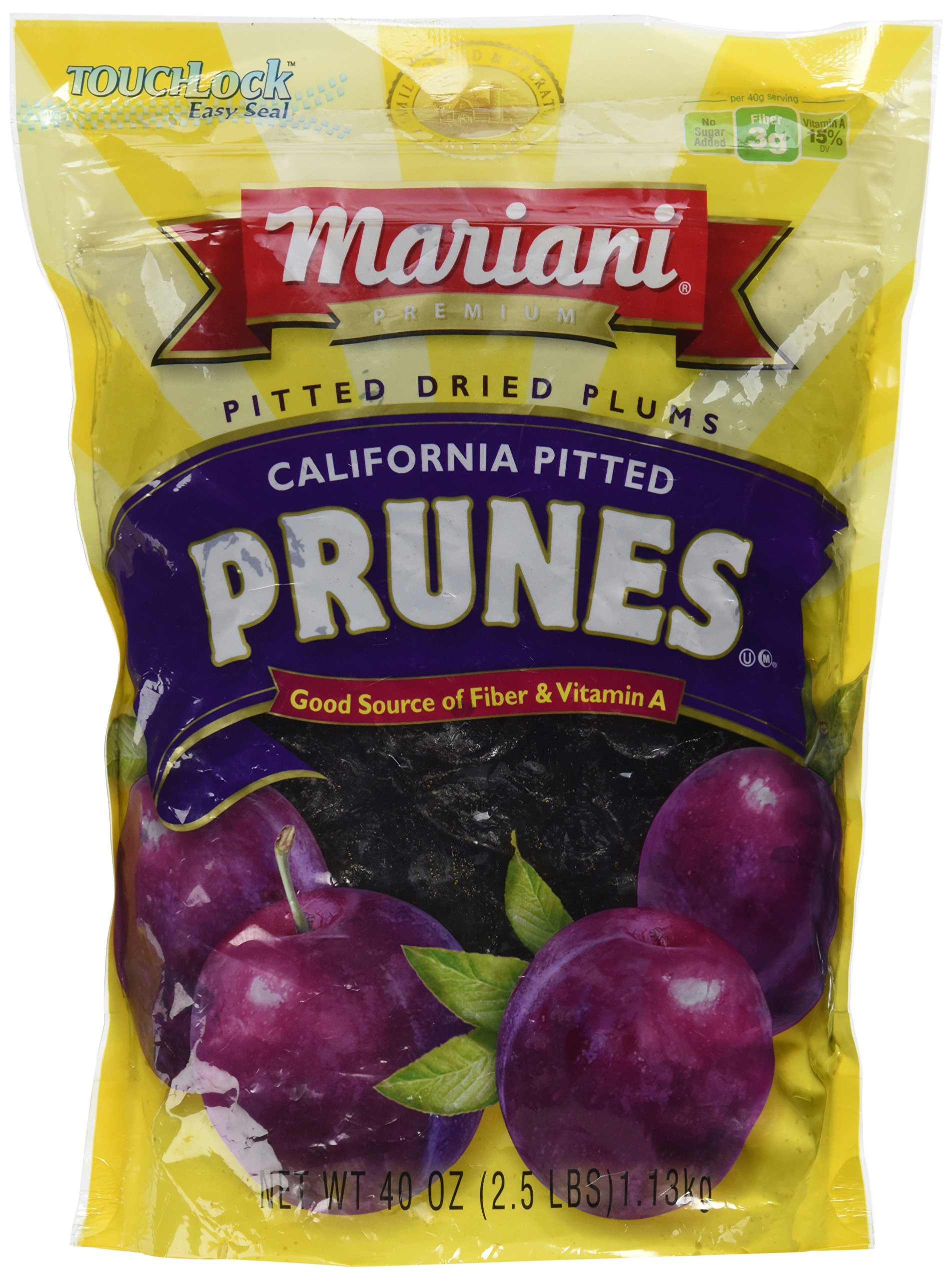 Mariani Pitted Dried Prunes - 40 Oz. Bag by Mariani