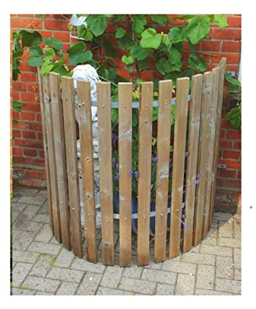 Naterial Holz Universal Verkleidung Zaun Regentonnenverkleidung