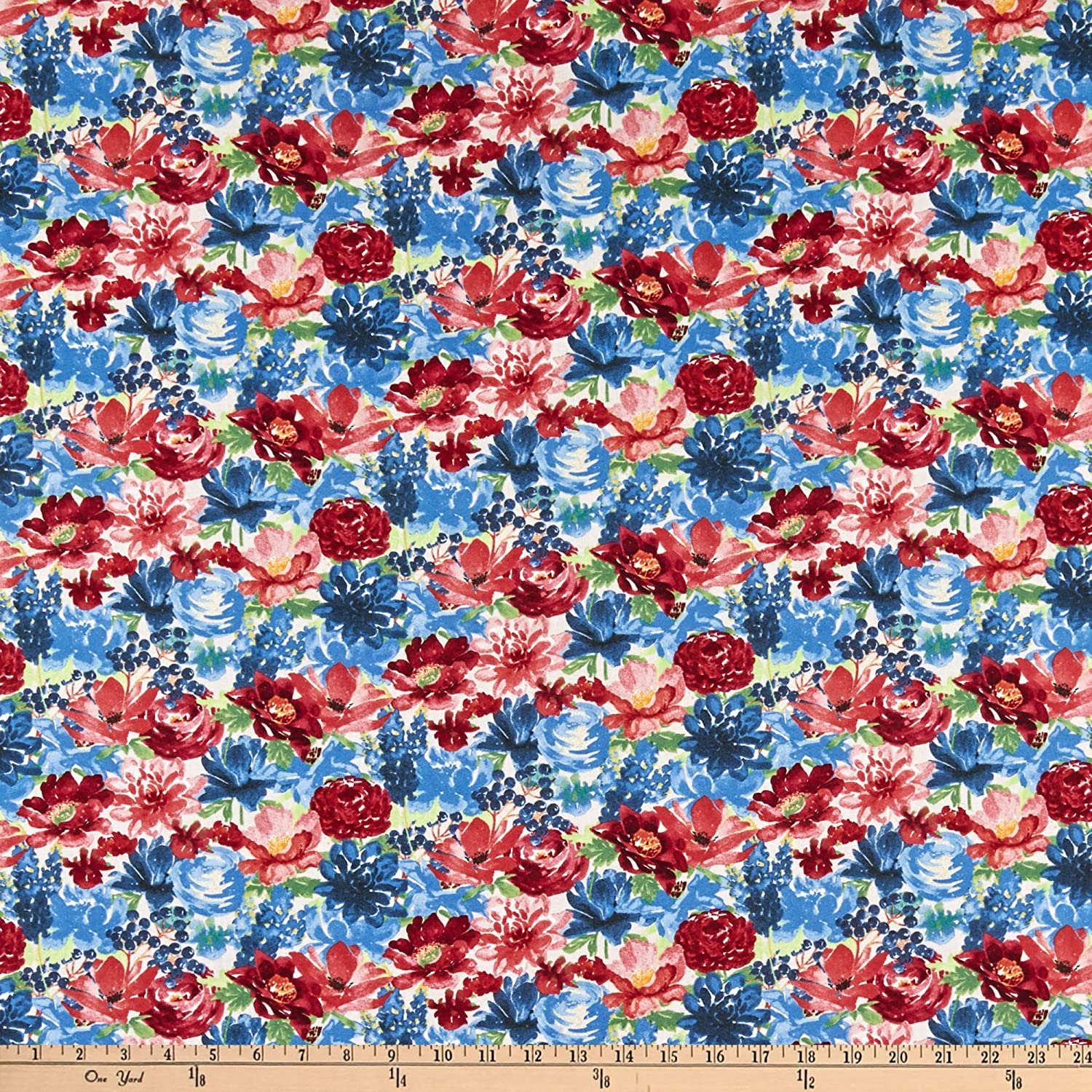 Wilmington Garden Charm Packed Floral Cream Quilt Fabric By The Yard