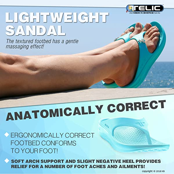 0bd6649cf0c54f Telic Unisex Arch Support Recovery Flipflop Sandal +Bundled BOB Exfoliating  Towel  50 Value – Great