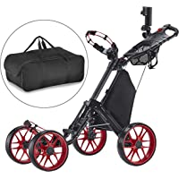Caddytek seul Clic pliante 4roues Version 3Golf Push Cart-dark Gris avec sac de rangement