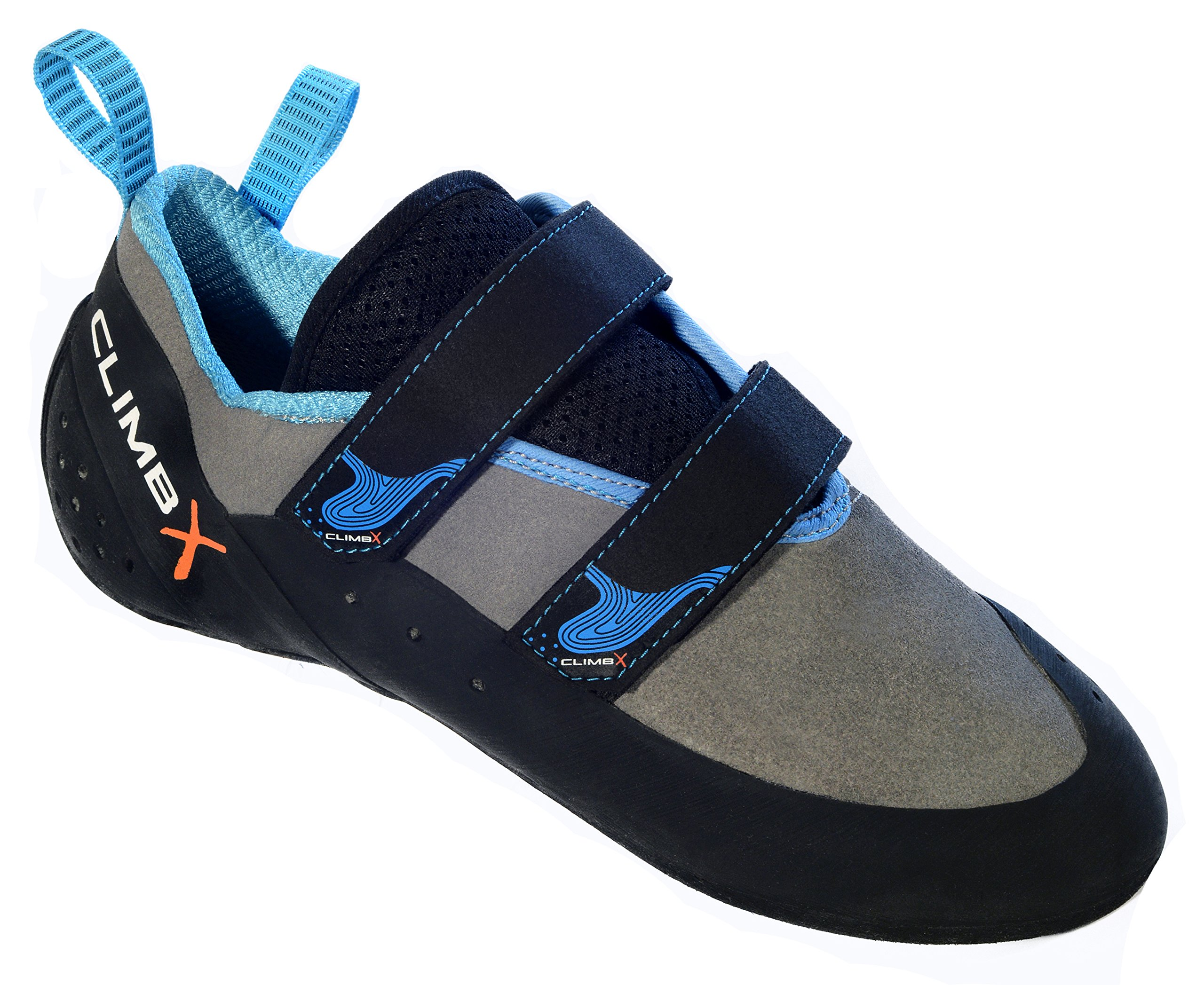 Climb X Rave Strap Climbing Shoe 2018 (10, Gray)