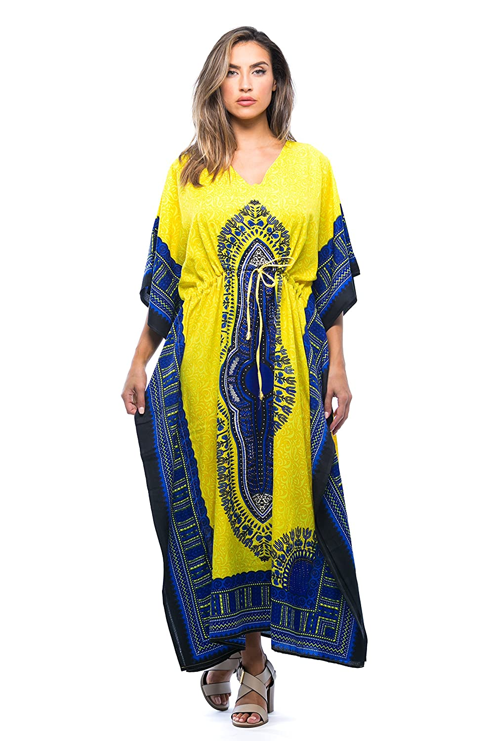 096208a4565 Riviera Sun African Print Dashiki Maxi Caftan for Women at Amazon Women s  Clothing store