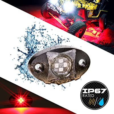 LAMPHUS Stardust SDRL14 4x4 4WD Offroad LED Rock Crawling Lights for Jeeps & Truck - RED: Automotive