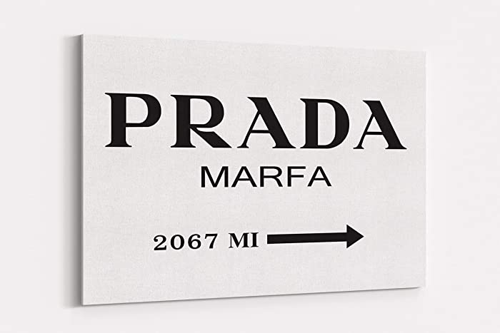 1a0483d884eb4 Fashion wall pop art print - Illustration - Prada Marfa Black and White -  Chic Glam Vogue poster on Canvas 20