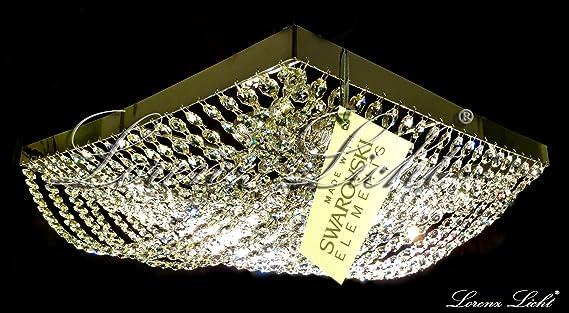 Plafoniera Cristallo Swarovski : Plafoniera con cristalli swarovski da soffitto elegante struttura