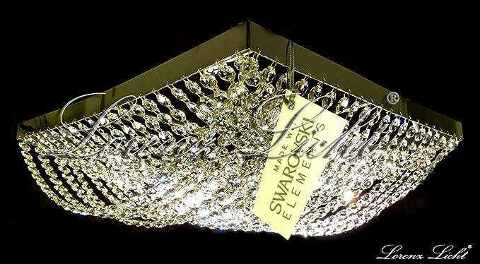 Plafoniere Con Swarovski : Plafoniera in ottone dorato con pendagli cristallo idfdesign