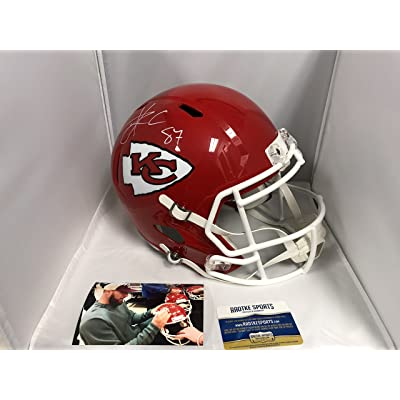 12a3abf69 Travis Kelce Signed Autographed Kansas City Chiefs Full Size Speed Helmet  Radtke COA   Hologram W Photo From signing