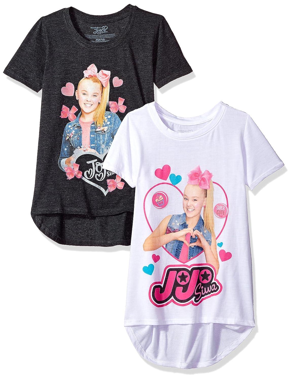 Nickelodeon Big JoJo Siwa Girls Short Sleeve 2 Pack T-Shirt J600G7-7S13S2