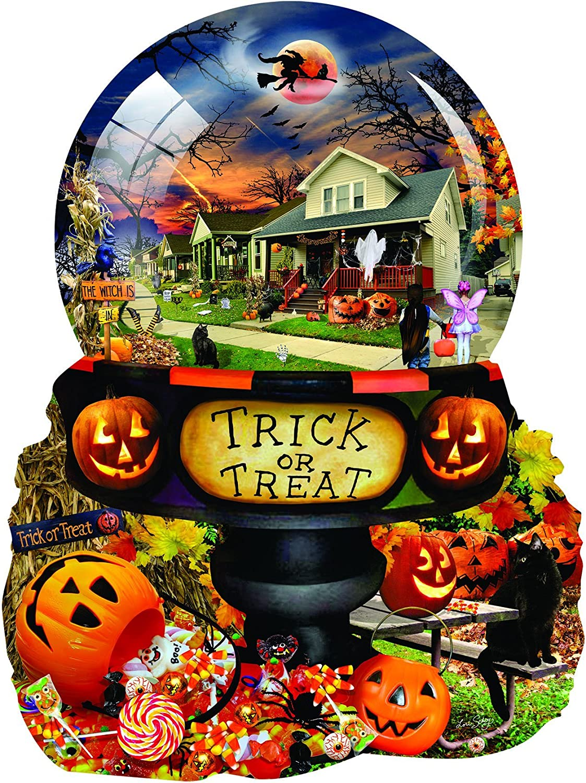 Halloween Globe 1000 pc Shaped Jigsaw Puzzle