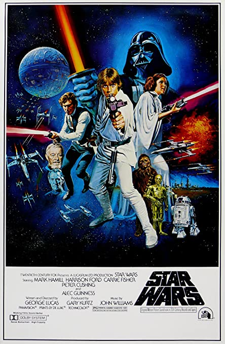 star wars retro sci fi movie poster 1 various sizes a4 size