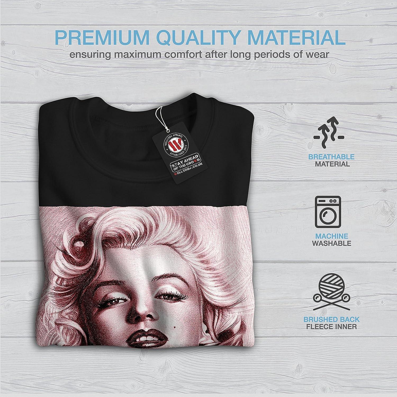 Painting Casual Jumper wellcoda Marilyn Woman Style Mens Sweatshirt
