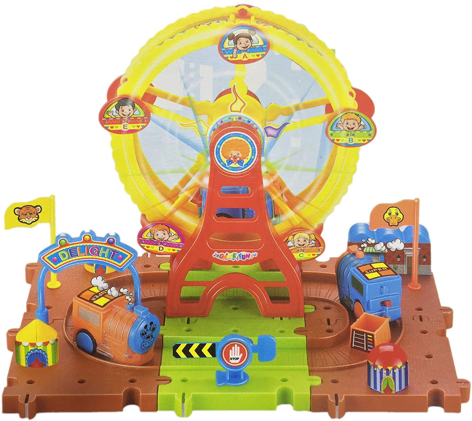 d23b44462c8 Buy Blossom 29 PCs Train Track Toy with Music   Light 360° Rotating for Kids  Educational Building Blocks Online at Low Prices in India - Amazon.in