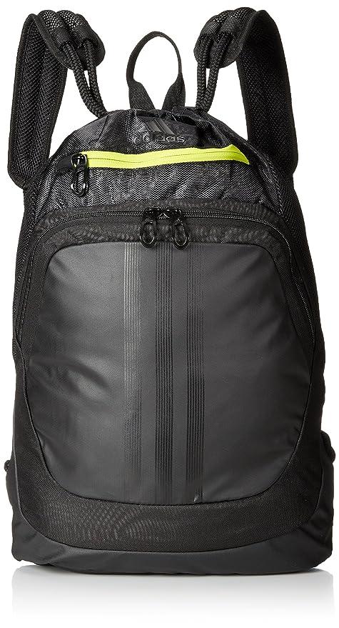 : adidas Ultimate amenaza sackpack semi - solar, negro / amarillo