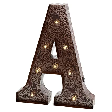 barnyard designs metal marquee letter a light up wall initial wedding home and bar decoration
