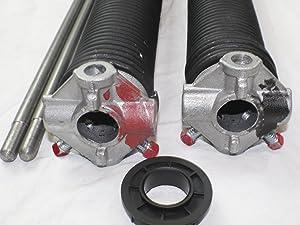 "Pair of 250 X 1 3/4"" X 31"" - 42"" Garage Door Torsion Springs with Winding Bars (33"")"