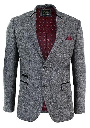 Slim Coupe Marron À Tweed Veste Homme Noir Gris Cintrée Chevrons En wPWvwqtK8