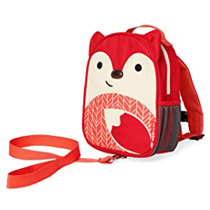 Skip Hop Toddler Leash and Harness Backpack, Fox