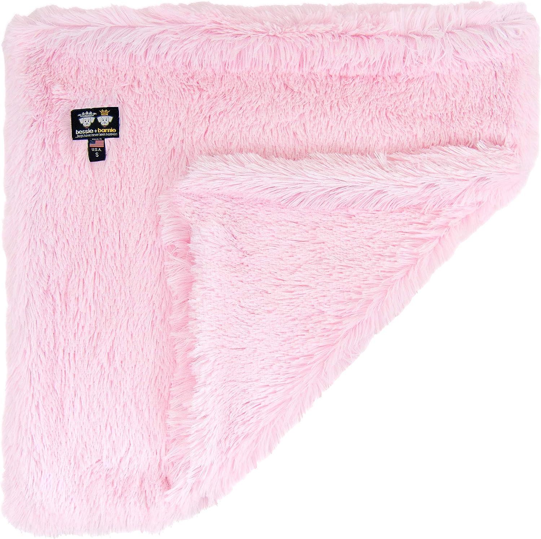 "Bessie and Barnie Bubble Gum Luxury Shag Ultra Plush Faux Fur Pet, Dog, Cat, Puppy Super Soft Reversible Blanket (Multiple Sizes), MD - 36"" x 28"""