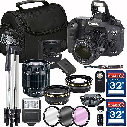 Amazon com : Canon EOS 7D Mark II Digital SLR Camera + 18