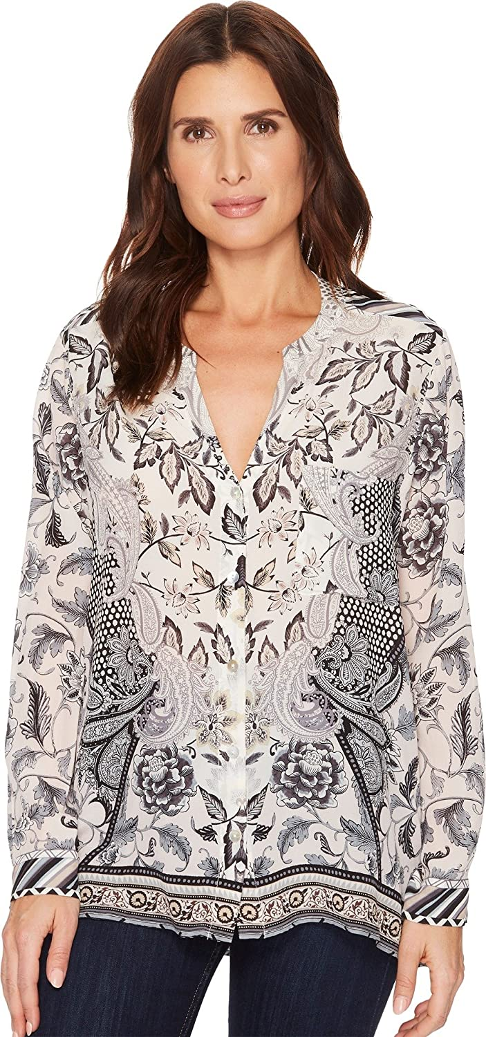 0c398f2271a2b Hale Bob Women's Simply Irresistible Long Sleeve Top Beige Small at Amazon  Women's Clothing store: