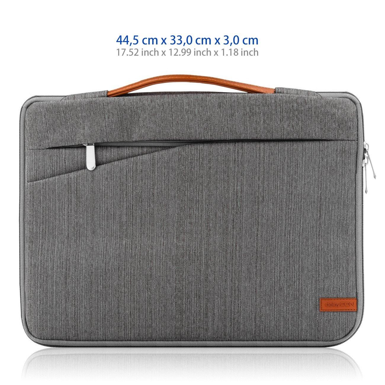 deleyCON Funda de protección para notebooks y Ordenadores portátiles de 17,3