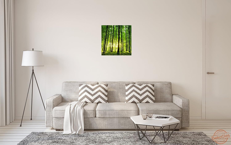 Küche, Haushalt & Wohnen Glasbilder einteilig 20x20 cm Wandbild
