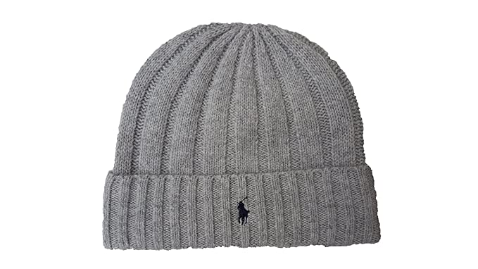 99ccd1cbd Image Unavailable. Image not available for. Color  Polo Ralph Lauren Men s  Beanie Skull Cap (Grey