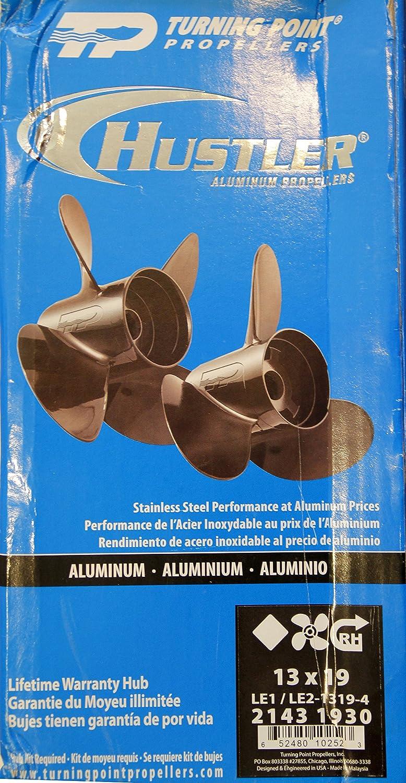 Turning Point Hustler/® Aluminum Right-Hand Propeller 13 X 19 4-Blade TURNING POINT PROPELLERS 21431930