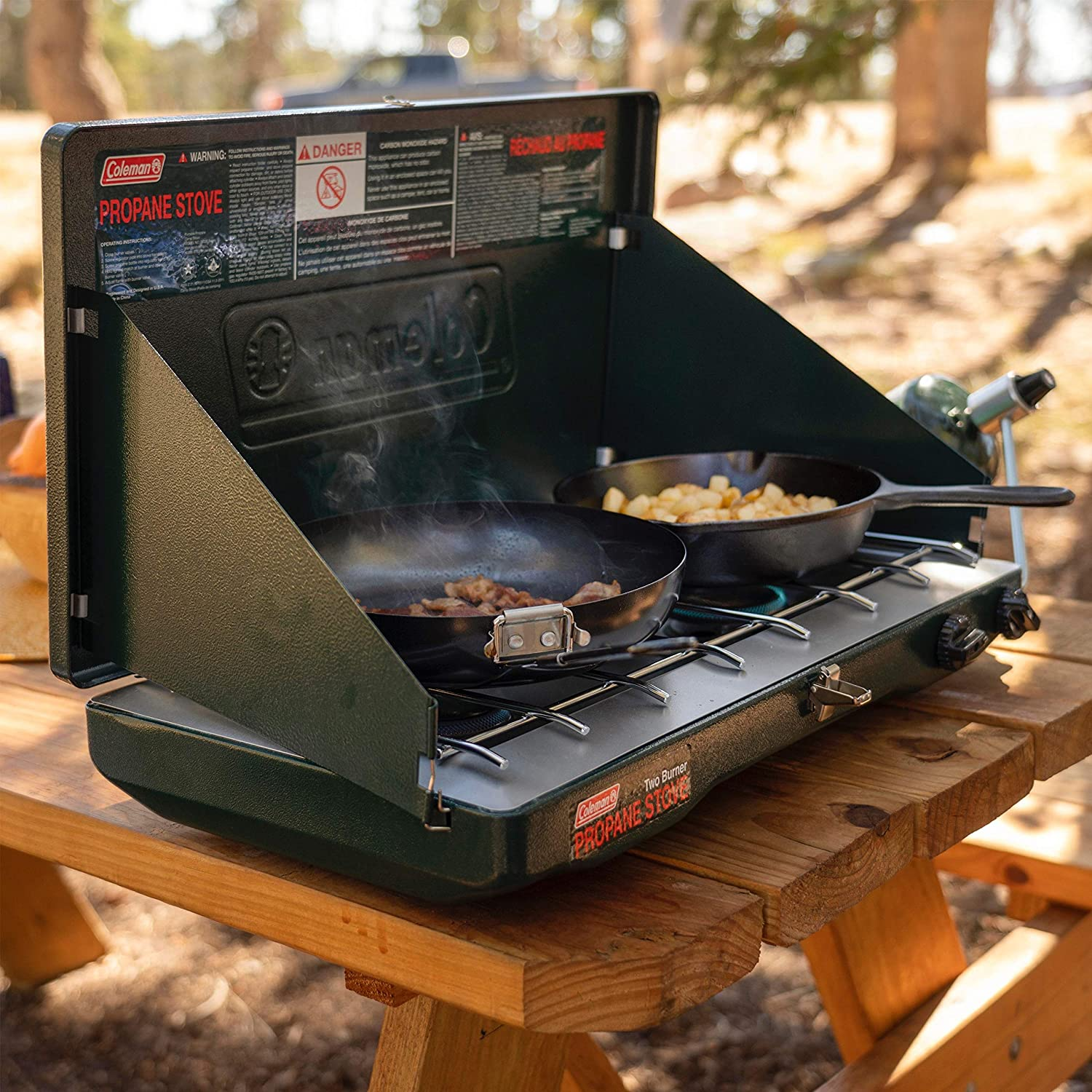 coleman classic - best double burner camp stove
