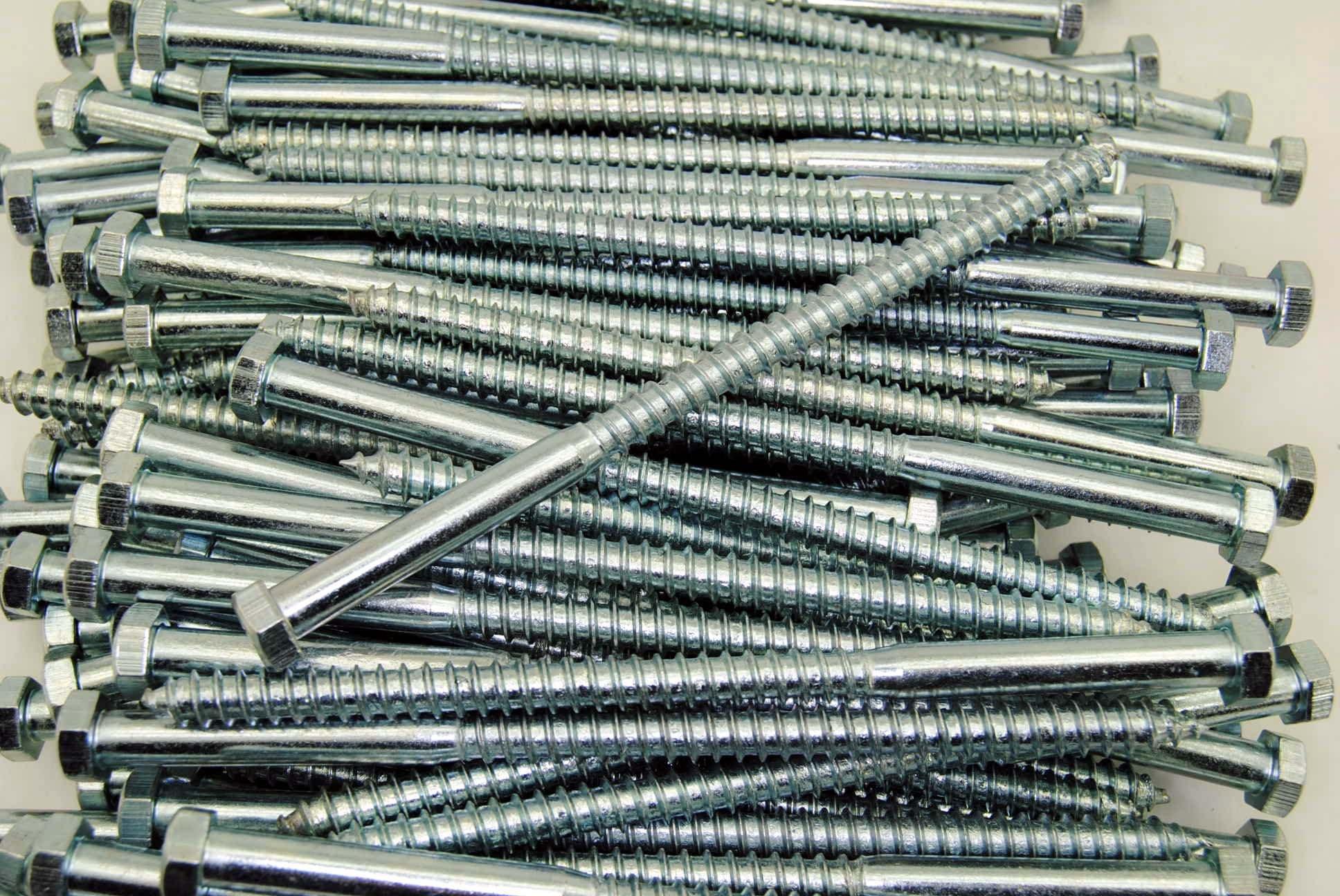 (50) Hex Head 3/8 x 7'' Lag Bolts Zinc Plate Wood Screws by Lexar Industrial