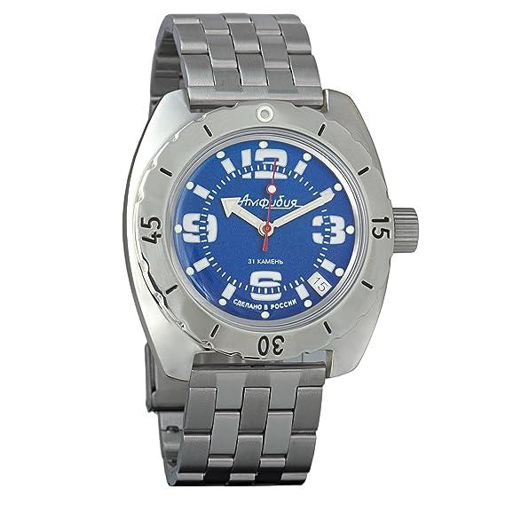 Vostok 150902 - Reloj de pulsera automático para hombre, diseño de anfibio militar