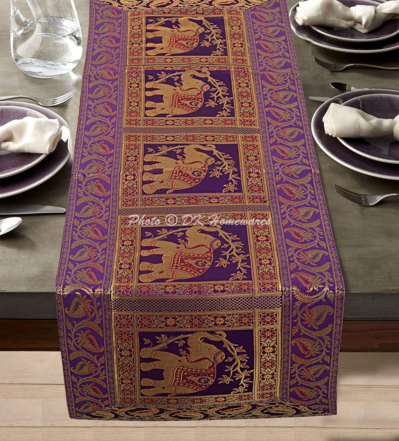 Home Kitchen Table Runners 16 X 180 Kess Inhouse Marianna Tankelevich Cute Birds Purple Pink Lavender Table Runner
