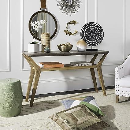 Awesome Amazon Com Safavieh Vnn1020A Collection Babette Dark Grey Inzonedesignstudio Interior Chair Design Inzonedesignstudiocom