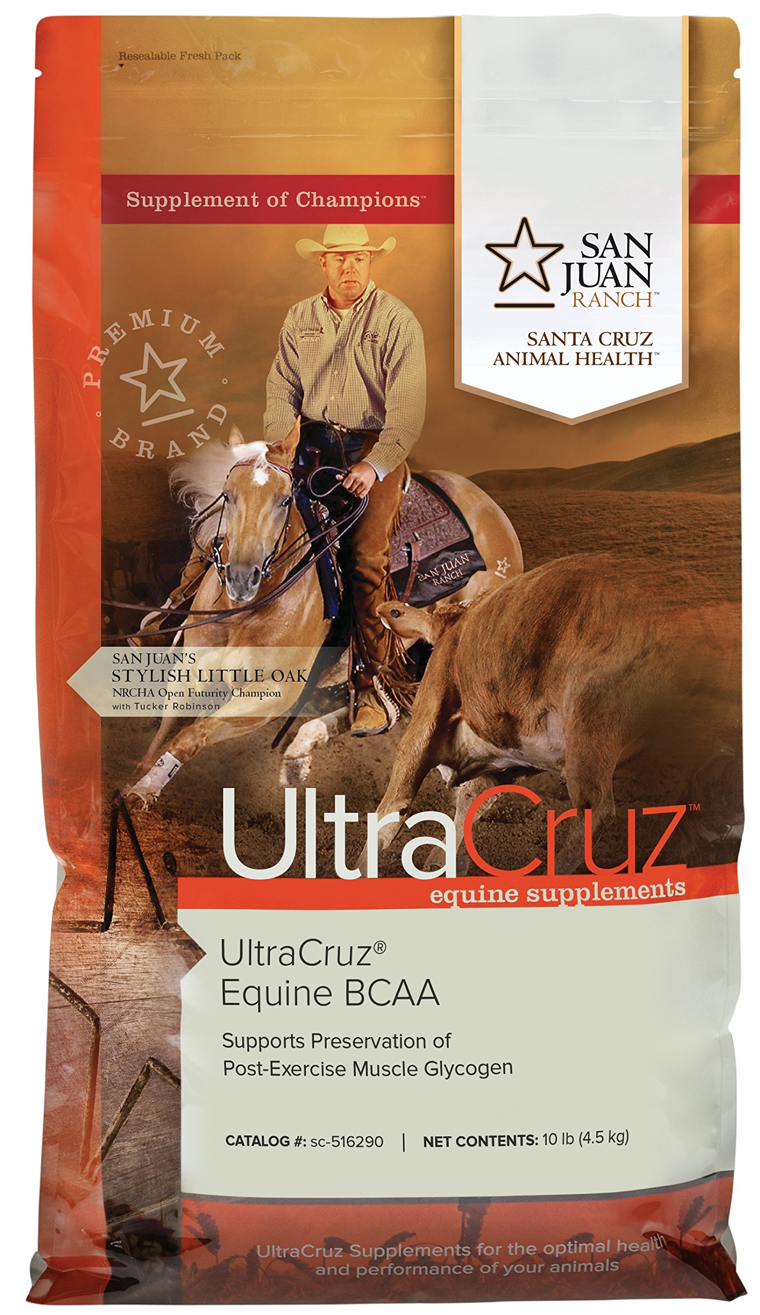 UltraCruz Horse BCAA Supplement, 10 lb, pellet, (55 day supply)