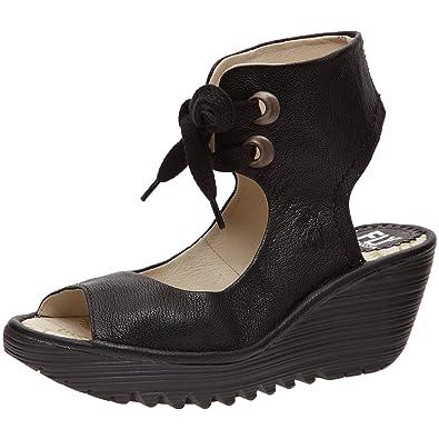Womens FLY London Women's Yaffa Ankle Strap Wedge Online Size 39