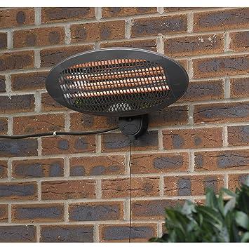 Kingfisher - Calentador eléctrico de Pared para Patio, Transparente, 50, 5 x 16, 5 x 25, 2 cm: Amazon.es: Jardín