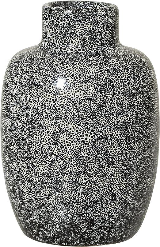 Bloomingville Vase Steingut Genoppt Grau