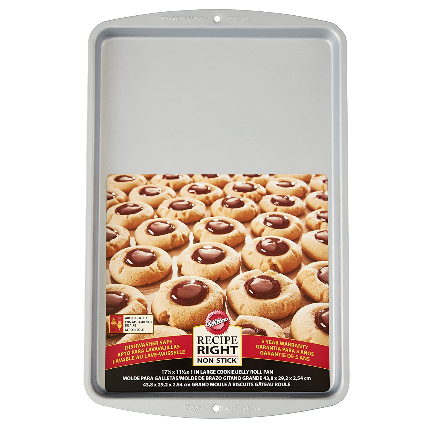 Wilton Recipe Right Jelly Roll - Bandeja para Horno (44 x 29 cm ...