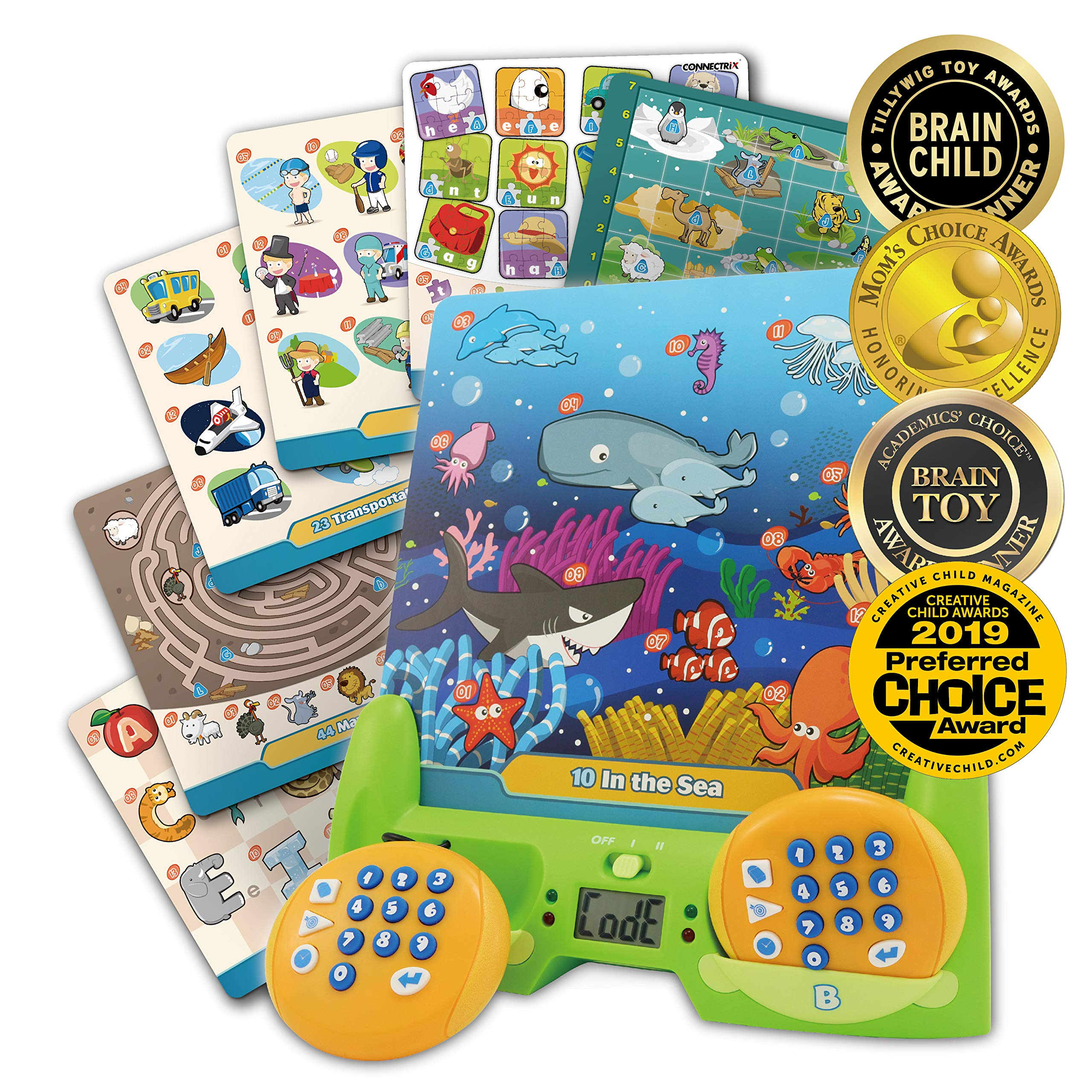 BEST LEARNING Connectrix Junior - Memory Matching Game for Kids - Original Interactive Educational Match Cards Toddler Games for 3-8 Year Olds - Classic 2-Player Concentration Card Toys for Toddlers by BEST LEARNING
