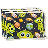 "Bentology - Reusable Ice Pack for Lunch Boxes (3 Pack) - Non Toxic -(6"" x 4.5"") - Alien"