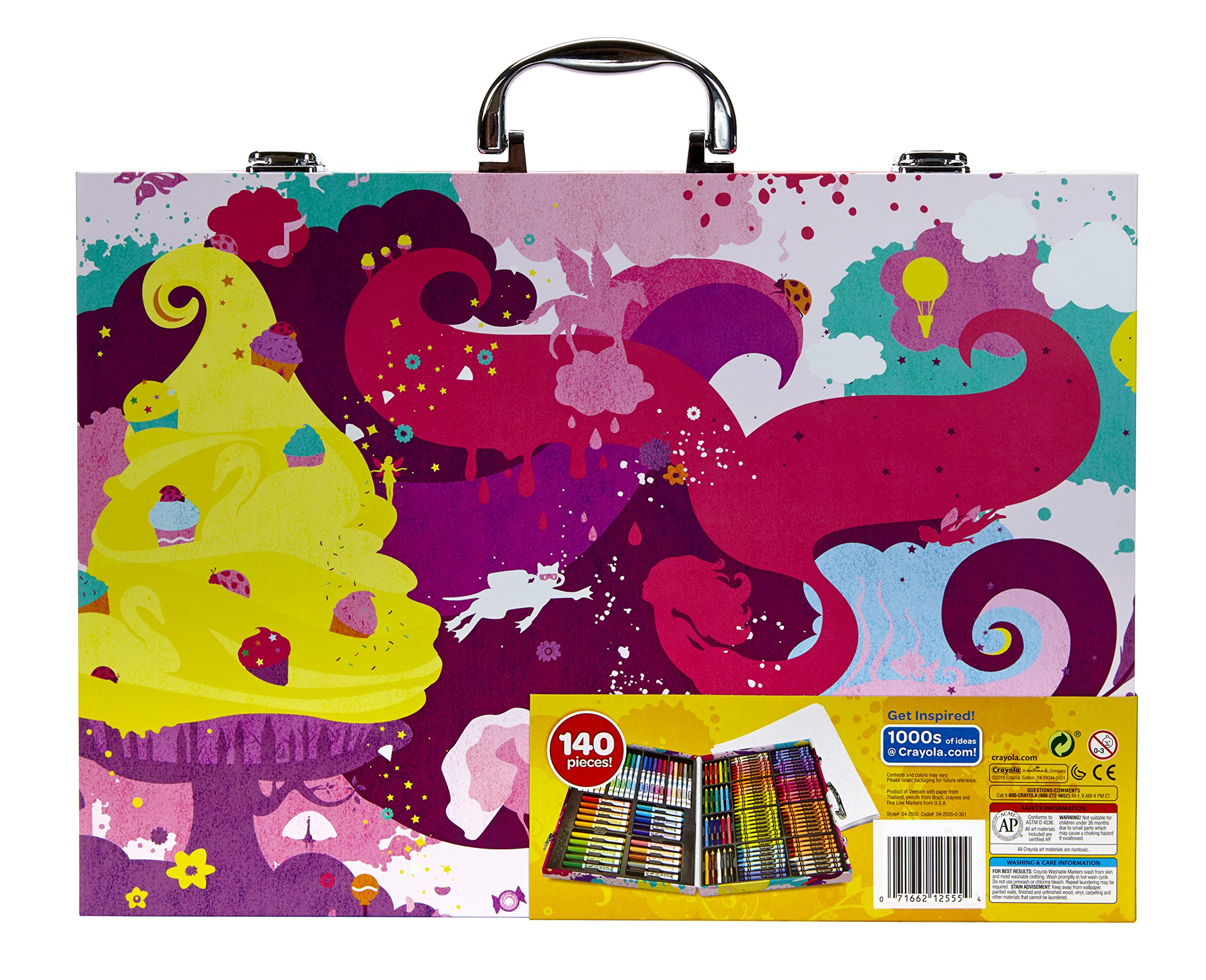 Crayola Inspiration Art Case in Pink, 140 Art & Coloring Supplies, Gift for Girls by Crayola (Image #8)