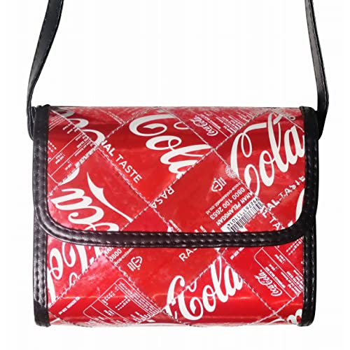 0e5e13632e Small crossbody made from Coca Cola can - FREE SHIPPING - recycled handmade bag  upcycle reclaimed art fun coke Fair trade ethical fun present presents ...