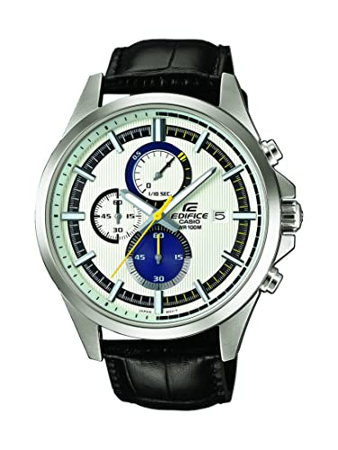 422a881d5cdc Casio Reloj Cronógrafo para Hombre de Cuarzo con Correa en Cuero EFV-520L-7AVUEF   Amazon.es  Relojes