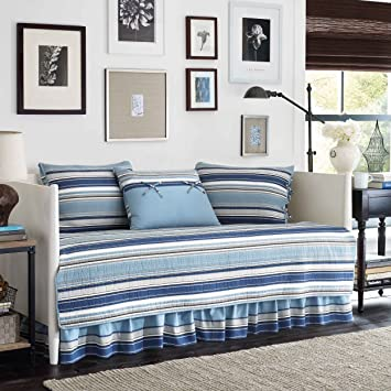 Great Stone Cottage Fresno 5 Piece Daybed Quilt Set, Blue
