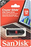 Sandisk Cruzer Glide USB flash drive, 128 GB, Black/Red (SDCZ60-128G-A46)
